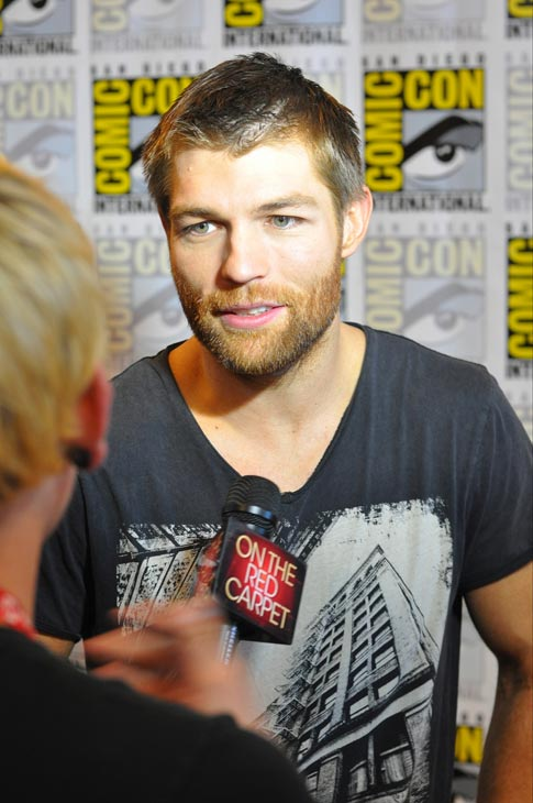 "<div class=""meta image-caption""><div class=""origin-logo origin-image ""><span></span></div><span class=""caption-text"">Liam McIntyre of 'Spartacus: War of the Damned' appears in a photo at San Diego Comic-Con on Friday, July 13, 2012. (OTRC Photo)</span></div>"