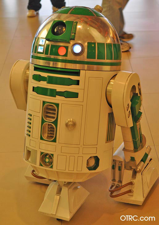 The R2-A6 unit from &#39;Star Wars Episode I: The Phantom Menace&#39; appears in a photo at San Diego Comic-Con on Friday, July 13, 2012. <span class=meta>(OTRC Photo)</span>