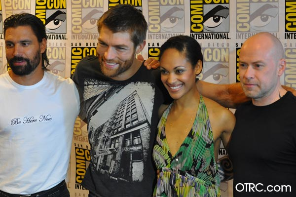 Liam McIntyre and the castmembers from &#39;Spartacus: War of the Damned&#39; appears in a photo at San Diego Comic-Con on Friday, July 13, 2012. <span class=meta>(OTRC Photo)</span>