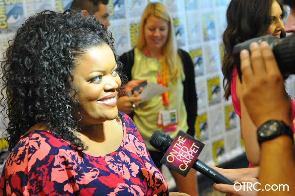 "<div class=""meta image-caption""><div class=""origin-logo origin-image ""><span></span></div><span class=""caption-text"">Yvette Nicole Brown of 'Community' appears in a photo at San Diego  Comic-Con on Friday, July 13, 2012. (OTRC Photo)</span></div>"