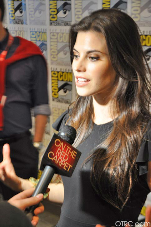 "<div class=""meta ""><span class=""caption-text "">Meghan Ory of 'Once Upon A Time' appears in a photo at San Diego Comic-Con on Friday, July 14, 2012. (OTRC Photo)</span></div>"