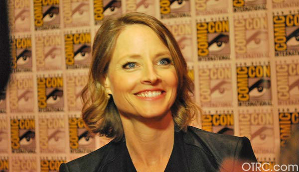 "<div class=""meta ""><span class=""caption-text "">'Elysium' actress Jodie Foster appears in a photo at San Diego Comic-Con on Friday, July 13, 2012.  (OTRC Photo)</span></div>"
