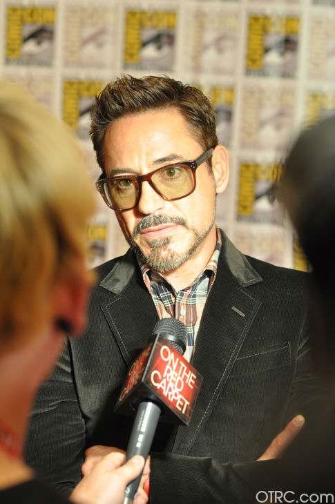 Robert Downey Jr. of 'Iron Man 3' appears in a photo at San Diego Comic-Con on Saturday, July 14, 2012.