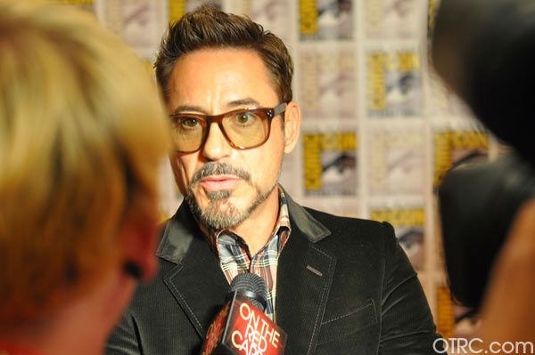 Robert Downey Jr. of &#39;Iron Man 3&#39; appears in a photo at San Diego Comic-Con on Saturday, July 14, 2012. <span class=meta>(OTRC Photo)</span>