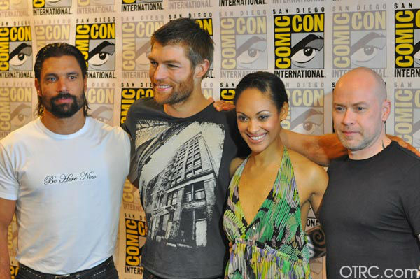 The cast of &#39;Spartacus: Vengeance&#39;appears in a photo at San Diego Comic-Con on Friday, July 13, 2012.  <span class=meta>(OTRC Photo)</span>