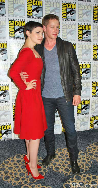 'Once Upon a Time' stars Josh Dallas and Ginnifer Goodwin appear in a photo at San Diego Comic-Con on Saturday, July 14, 2012.