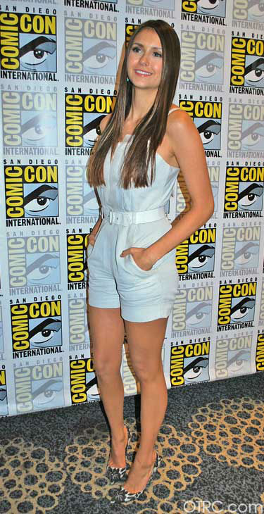"<div class=""meta ""><span class=""caption-text "">Nina Dobrev of 'The Vampire Diaries' appears in a photo at San Diego Comic-Con on Saturday, July 14, 2012. (OTRC Photo)</span></div>"