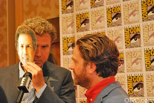 Will Ferrell and Zach Galifianakis of 'The Campaign'appear in a photo at San Diego Comic-Con on Saturday, July 14, 2012.