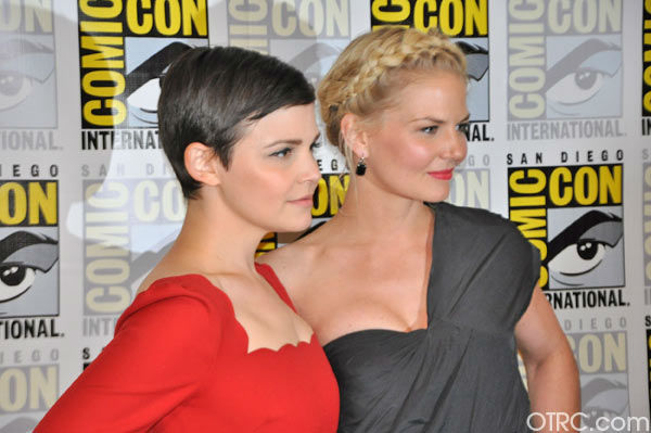 'Once Upon a Time' stars Jennifer Morrison and Ginnifer Goodwin appear in a photo at San Diego Comic-Con on Saturday, July 14, 2012.