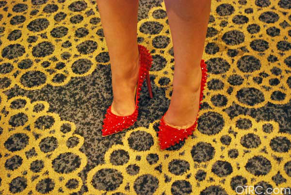 'Once Upon a Time' star Ginnifer Goodwin wore stylish heels at San Diego Comic-Con on Saturday, July 14, 2012.