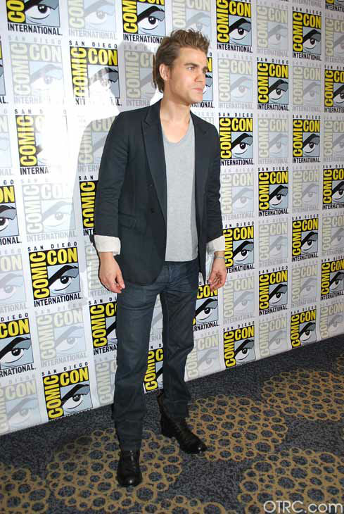 Paul Wesley of 'The Vampire Diaries' appears in a photo at San Diego Comic-Con on Saturday, July 14, 2012.