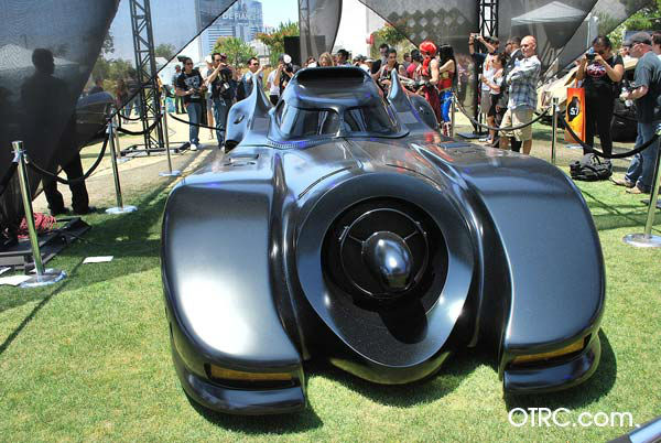 Michael Keaton&#39;s Batmobile from the 1992 film &#39;Batman Begins&#39; appears in a photo at San Diego Comic-Con on Saturday, July 14, 2012. <span class=meta>(OTRC Photo)</span>
