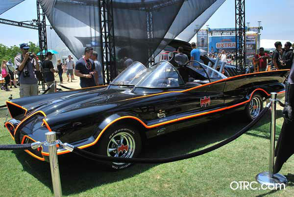 "<div class=""meta ""><span class=""caption-text "">Adam West's Batmobile from the 'Batman' TV series appears in a photo at San Diego Comic-Con on Saturday, July 14, 2012. (OTRC Photo)</span></div>"