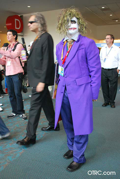 A fan dressed in costume as the Joker appears in a photo at San Diego Comic-Con on Saturday, July 14, 2012. <span class=meta>(OTRC Photo)</span>