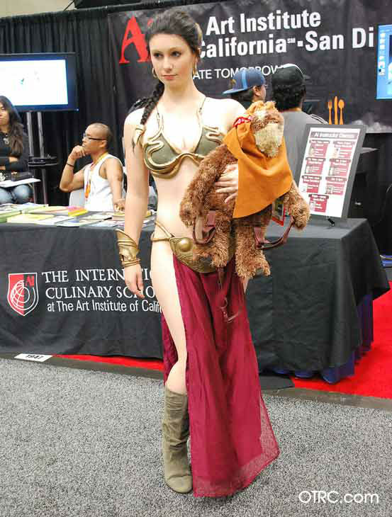 A fan dressed in costume as Princess Leia from &#39;Star Wars&#39; appears in a photo at San Diego Comic-Con on Saturday, July 14, 2012. <span class=meta>(OTRC Photo)</span>