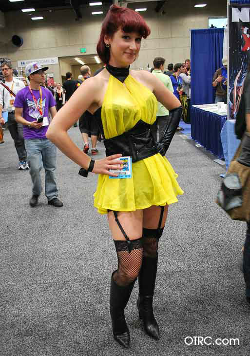 A fan dressed in costume as Silk Spectre from &#39;The Watchmen&#39; appears in a photo at San Diego Comic-Con on Saturday, July 14, 2012. <span class=meta>(OTRC Photo)</span>