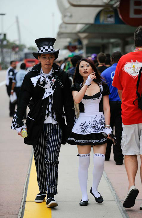 Costumed characters on the first day of the Comic-Con convention held at the San Diego Convention Center on Thursday July 12, 2012, in San Diego.  <span class=meta>(AP Photo&#47; Denis Poroy)</span>