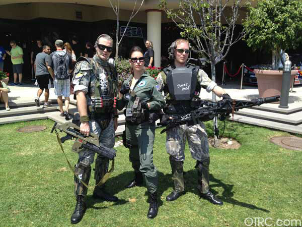 "<div class=""meta ""><span class=""caption-text "">Fans dressed in costumes appear in a photo at San Diego Comic-Con on Sunday, July 15, 2012. (OTRC Photo / Courtesy of Travis Stewart)</span></div>"