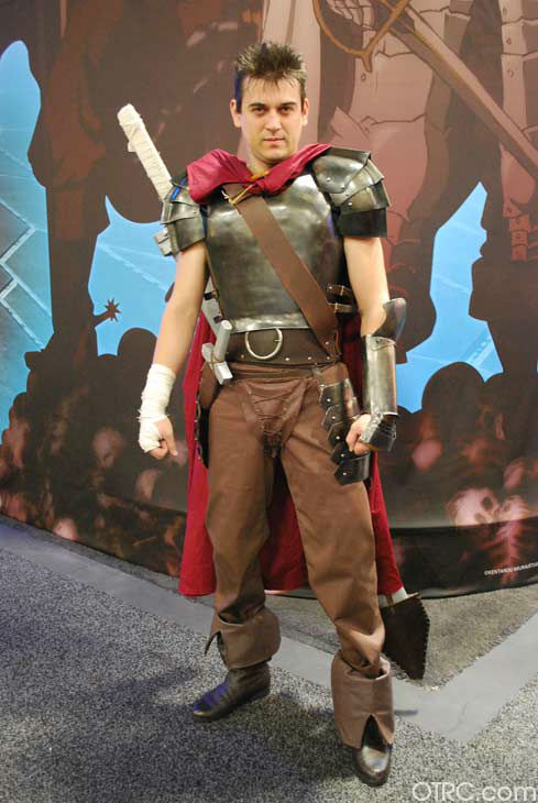 A fan dressed in costume appears in a photo at San Diego Comic-Con on Sunday, July 15, 2012.