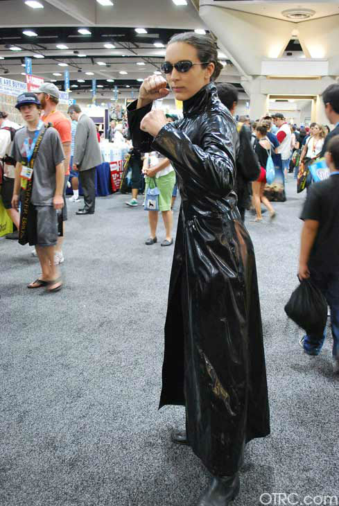 A fan dressed as a character from 'The Matrix' appears in a photo at San Diego Comic-Con on Sunday, July 15, 2012.