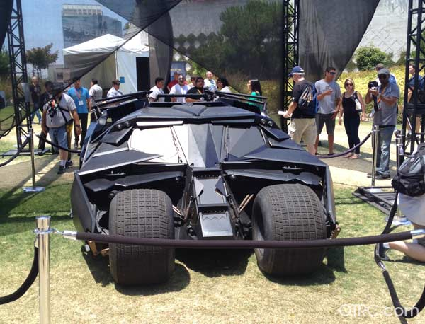Batman's Tumbler on display at Comic-Con, held on July 12 through July 15, 2012.