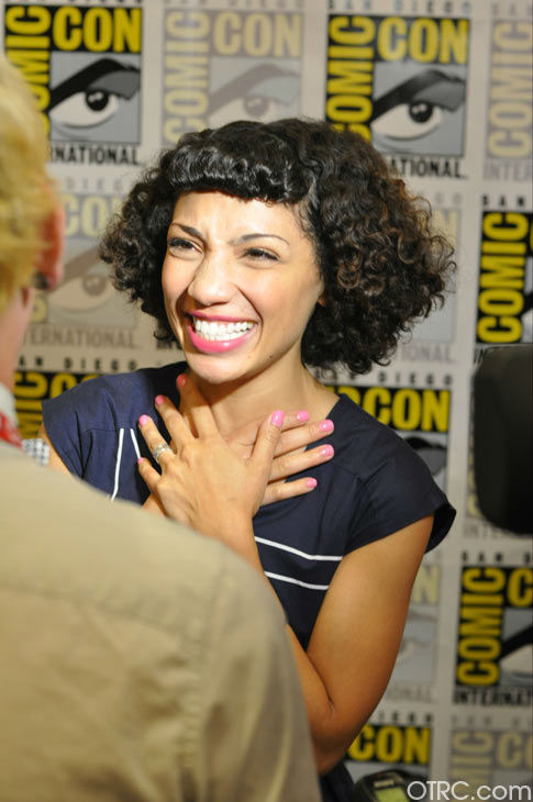 Jasika Nicole of &#39;Fringe&#39; appears in a photo at San Diego Comic-Con on Sunday, July 15, 2012. <span class=meta>(OTRC Photo)</span>