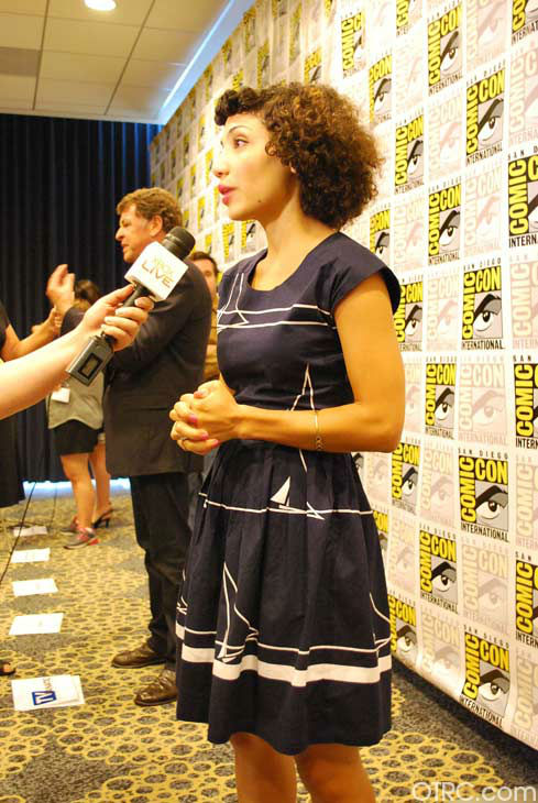 "<div class=""meta ""><span class=""caption-text "">Jasika Nicole of 'Fringe' appears in a photo at San Diego Comic-Con on Sunday, July 15, 2012. (OTRC Photo)</span></div>"
