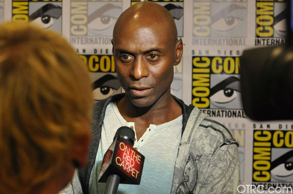 Lance Reddick 'Fringe' appears in a photo at San...