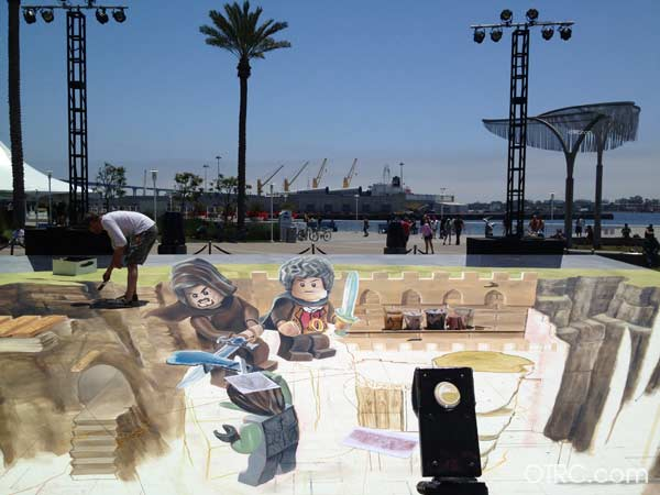 Legos artwork at Comic-Con, held on July 12...