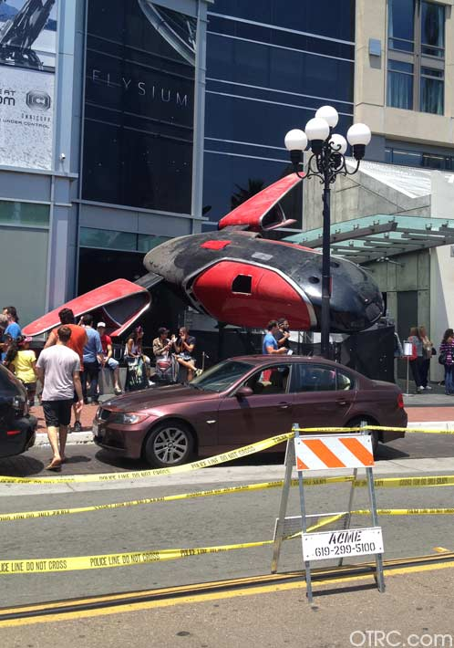 A prop outside Comic-Con, held on July 12...