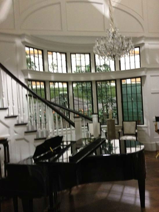 Pictured is the inside of Grayson Manor from the set of the ABC drama series 'Revenge.' The photo was taken on July 26, 2012, during a set visit by members of the Television Critics Association.