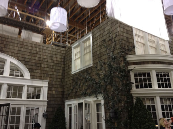 Pictured is the outside of Grayson Manor from the set of the ABC drama series 'Revenge.' The photo was taken on July 26, 2012, during a set visit by members of the Television Critics Association.
