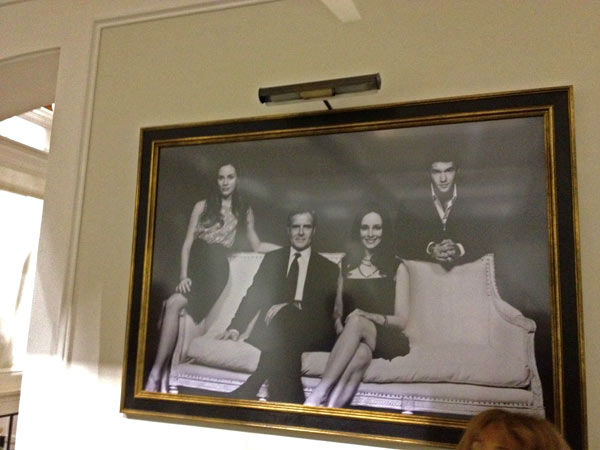 Pictured is a portrait of the Grayson family inside Grayson Manor from the set of the ABC drama series 'Revenge.' The photo was taken on July 26, 2012, during a set visit by members of the Television Critics Association.