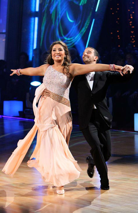 Bristol Palin and Mark Ballas appear in a still from the 2010 season 11 of 'Dancing With The Stars.'
