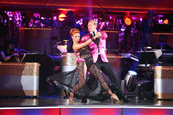 Carson Kressley and Anna Trebunskaya appear in a still from the 2011 season 13 of 'Dancing With The Stars.'