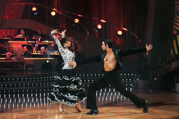 Gilles Marini and Cheryl Burke appear in a still from the 2011 season 12 of 'Dancing With The Stars.'