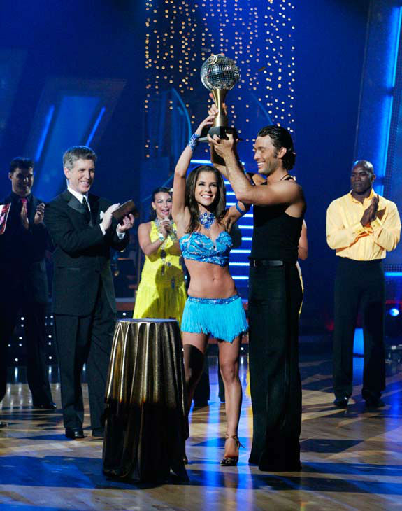 Kelly Monaco and Alec Mazo appear in a still from the 2005 first season of 'Dancing With The Stars.'