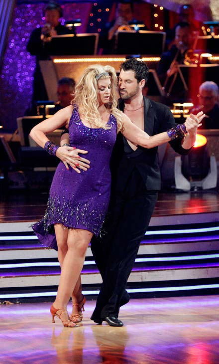 Kirstie Alley and Maksim Chmerkovskiy appear in a still from the 2010 season 12 of 'Dancing With The Stars.'