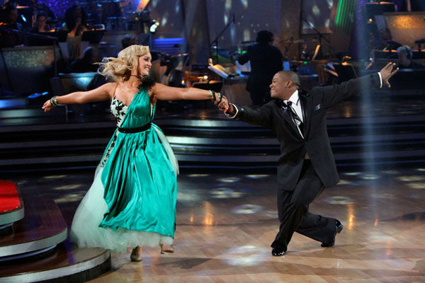 Kyle Massey and Lacey Schwimmer appear in a still from the 2010 season 11 of 'Dancing With The Stars.'