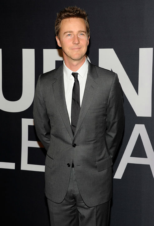 Actor Edward Norton attends the world premiere...