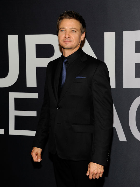 Actor Jeremy Renner attends the world premiere of 'The Bourne Legacy' at the Ziegfeld Theatre on Monday July 30, 2012 in New York.