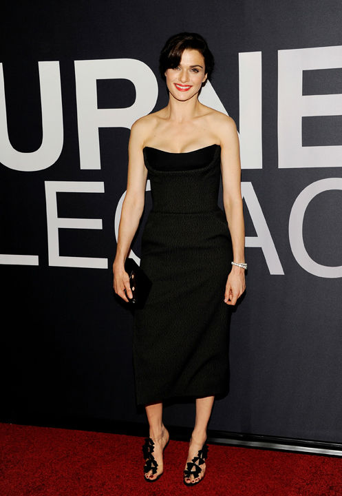 Actress Rachel Weisz attends the world premiere of 'The Bourne Legacy' at the Ziegfeld Theatre on Monday July 30, 2012 in New York.