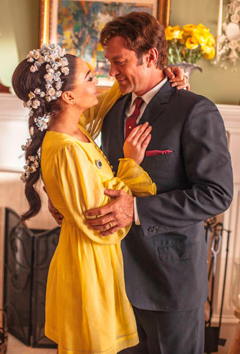 Lindsay Lohan and Grant Bowler star as Elizabeth Taylor and Richard Burton in the all-new Lifetime Original Movie, 'Liz and Dick,' premiering on Lifetime on November 3, 2012.