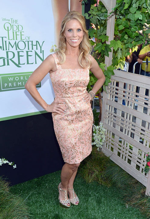 Cheryl Hines arrives at the Los Angeles premiere...