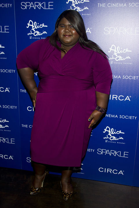 "<div class=""meta ""><span class=""caption-text "">Gabourey Sidibe ('Precious') attends a screening of 'Sparkle' hosted by The Cinema Society with Circa and Alice + Olivia on Tuesday, Aug. 14, 2012 in New York.  (Charles Sykes)</span></div>"