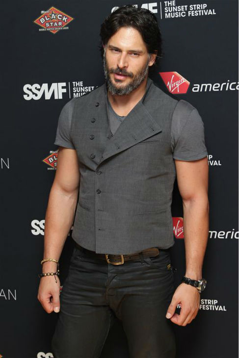 The &#39;Little-Hand-Says-Its-Time-To-Rock-N-Roll&#39; stare: Joe Manganiello appears at the Sunset Strip Music Festival VIP party, hosted by Virgin America, in Los Angeles on Aug. 17, 2012. <span class=meta>(Norman Scott &#47; Startraksphoto.com)</span>