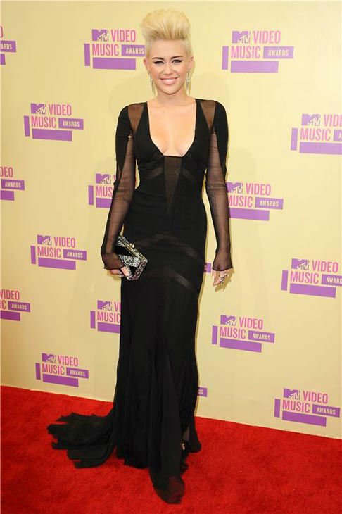 Miley Cyrus appears at the 2012 MTV Video Music Awards in Los Angeles, California on Sept. 6, 2012.  <span class=meta>(Sara De Boer &#47; startraksphoto.com)</span>