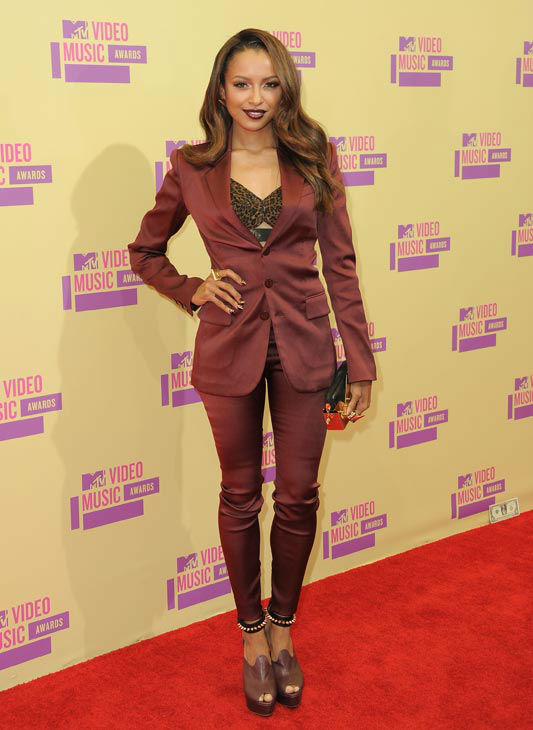 Kat Graham arrives at the MTV Video Music Awards on Thursday, Sept. 6, 2012, in Los Angeles. <span class=meta>(AP Photo&#47; Jordan Strauss)</span>