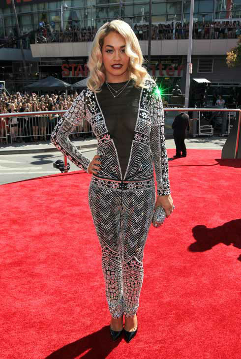 "<div class=""meta ""><span class=""caption-text "">Rita Ora arrives at the MTV Video Music Awards on Thursday, Sept. 6, 2012, in Los Angeles. (AP Photo/ Matt Sayles)</span></div>"