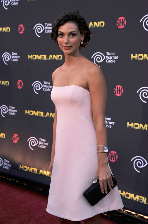 "<div class=""meta ""><span class=""caption-text "">Actress Morena Baccarin attends the Showtime and Time Warner Cable hosted premiere screening and reception to launch the second season of 'Homeland' at the Intrepid Sea-Air-Space Museum on September 7, 2012 in New York City. Showtime for its second season debut on Sunday, September 30th at 10 p.m. ET/PT.  (Stephen Lovekin/Getty Images for Showtime)</span></div>"